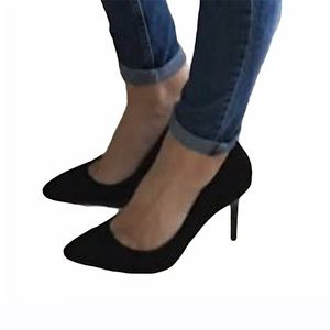 Women's H&M Black Suede Pump Heels 8 US!